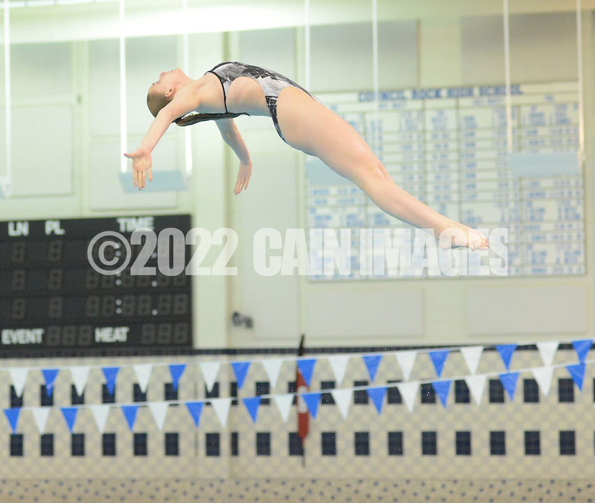 Council Rock South girls diver Phoebe Shaya practices  Wednesday March 9, 2016 in Newtown, Pennsylvania.  (Photo by William Thomas Cain)