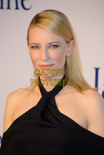 Cate Blanchett<br /> The &quot;Blue Jasmine&quot; UK film premiere, Odeon West End cinema, Leicester Square, London, England.<br /> September 17th, 2013<br /> headshot portrait black off the shoulder halterneck  <br /> CAP/CJ<br /> &copy;Chris Joseph/Capital Pictures