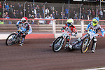 LAKESIDE HAMMERS v PETERBOROUGH PANTHERS<br /> ELITE LEAGUE<br /> FRIDAY 10TH MAY 2013<br /> ARENA-ESSEX<br /> HEAT ONE<br /> Peter Karlsson (Red), Kim Nilsson (Blue), Kenneth Bjerre (White), Nicoai Klindt (Yellow)