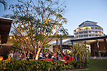 Salt House Restaurant and Bar at dusk.  Marina Point, Cairns, Queensland, Australia