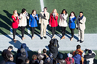 Annapolis, MD - DEC 28, 2017: The USO Show Troupe perform before game between Virginia and Navy at the Military Bowl presented by Northrop Grunman at Navy-Marine Corps Memorial Stadium Annapolis, MD. (Photo by Phil Peters/Media Images International)