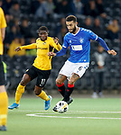 03.10.2019 Young Boys of Bern v Rangers: Connor Goldson and Roger Assale