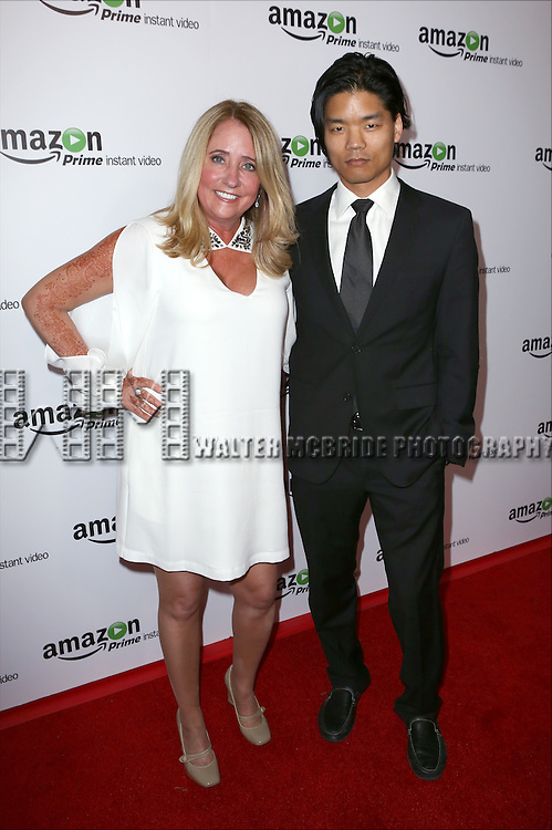 Blair Tindall and Yaoshiang Ho attending the Amazon Red Carpet Premiere for 'Mozart in the Jungle' at Alice Tully Hall on December 2, 2014 in New York City.