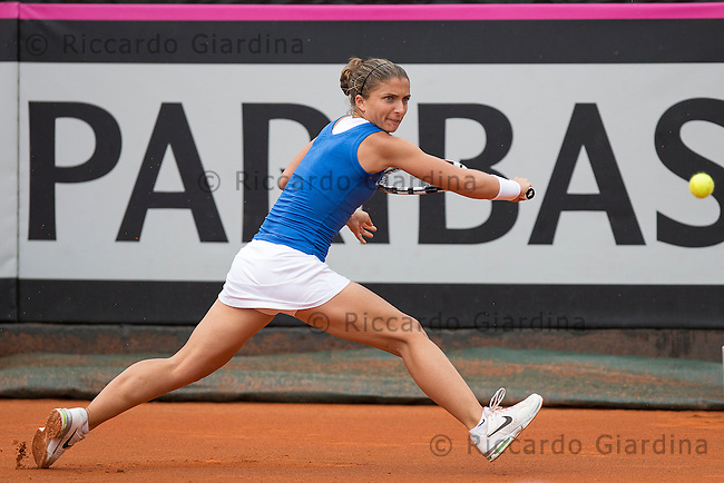 Sara ERRANI (ITA) | FED CUP 2013, World Group Semifinals :: ITA vs CZE :: 2nd day - Apr, 21st 2013. Ph. Riccardo Giardina