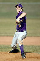 April 9th 2008:  Mike Hackett of the Pavilion Golden Gophers high school baseball team during a game vs. the Warsaw Tigers in Livingston County League action.  Photo by Mike Janes/Four Seam Images