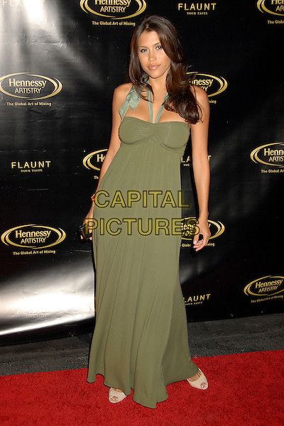 RACHEL STERLING.Hennessy Artistry Finale Event at Paramount Studios, Hollywood, California, USA..October 10th, 2007.full length green halterneck dress.CAP/ADM/BP.©Byron Purvis/AdMedia/Capital Pictures.