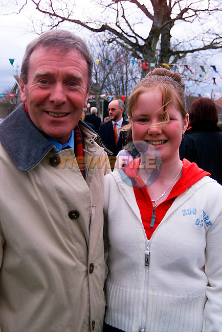 John Andrews with Siobhan Rush who made her Confirmation in Laytown...Pic Tony Campbell/Newsfile