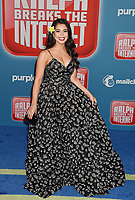 HOLLYWOOD, CA - NOVEMBER 05: Auli'i Cravalho attends the Premiere Of Disney's 'Ralph Breaks The Internet' at the El Capitan Theatre on November 5, 2018 in Los Angeles, California.<br /> CAP/ROT/TM<br /> &copy;TM/ROT/Capital Pictures