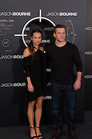 Matt Damon and Alicia Vikander attend the photocall of 'Jason Bourne' in Madrid, Spain. July 13, 2016. (ALTERPHOTOS/Marcos Menendez) /NORTEPHOTO