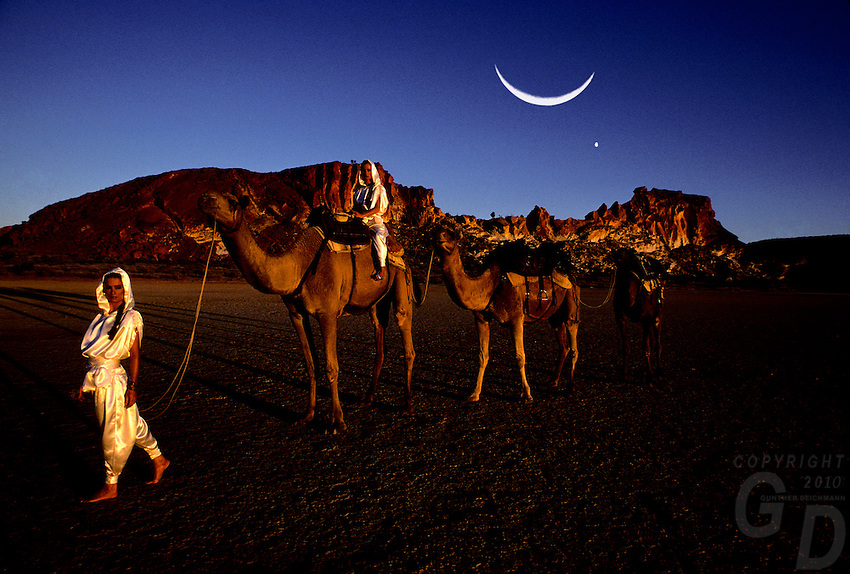 Images from the Book Journey Through Colour and Time, Camels at Rainbow Valley Northern Territory, Australia. image was created for a Calendar Production