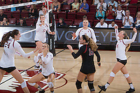 STANFORD, CA - August 28, 2016: Celebration at Maples Pavilion. The Stanford Cardinal defeated the University of Minnesota 3-1.
