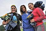 8 giugno 2013 - XIX Meeting internazionale di Torino - XIV Memorial Primo Nebiolo<br /> 8th June 2013 - XIX Turin International Track and Field meeting - XIV Memorial Primo Nebiolo<br /> <br /> From left:<br /> MASSOBRIO Francesca ITA<br /> SALIS Silvia ITA<br /> NOVOZHILOVA Iryna UKR
