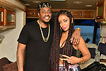 MIAMI, FL - JULY 25: Raheem Devaughn and Mýa backstage during the Overtown Music and Arts Festival at the historic Overtown district of Miami on Saturday July 25, 2015 in Miami, Florida. ( Photo by Johnny Louis / jlnphotography.com )