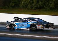 May 16, 2014; Commerce, GA, USA; NHRA pro stock driver Jonathan Gray during qualifying for the Southern Nationals at Atlanta Dragway. Mandatory Credit: Mark J. Rebilas-USA TODAY Sports