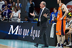 Valencia Basket coach Txus Vidorreta during Liga Endesa match between Real Madrid and Valencia Basket at Wizink Center in Madrid , Spain. March 25, 2018. (ALTERPHOTOS/Borja B.Hojas)