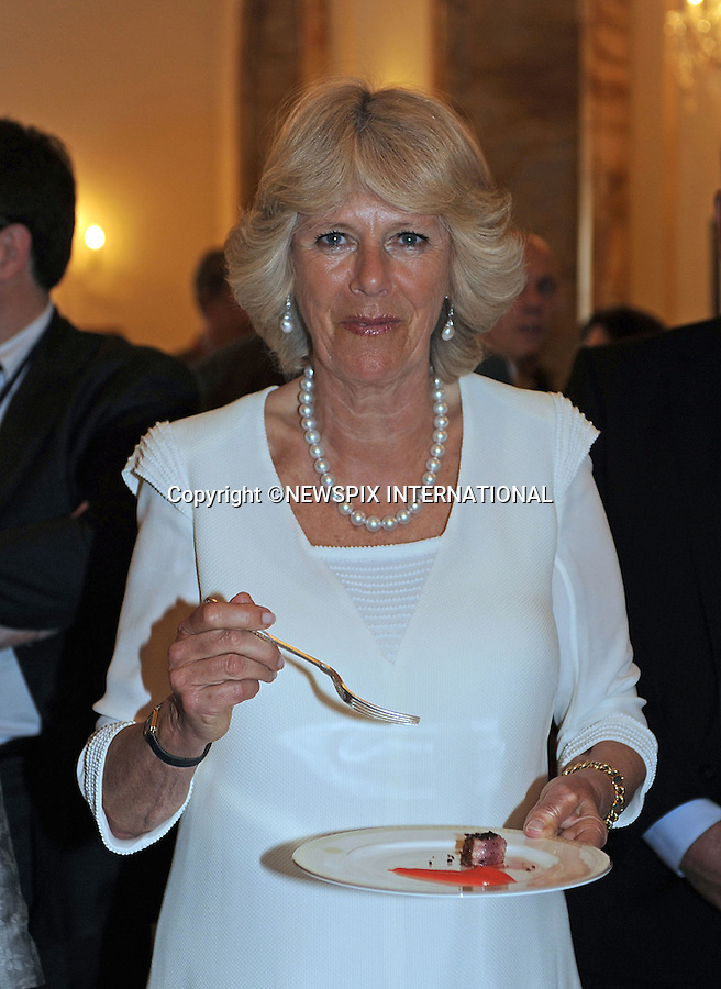 """PRINCE CHARLES and CAMILLA_Duchess of Cornwall.Slow Food Reception, Villa Wolkonsky, Rome Italy_27/04/2009.Mandatory Photo Credit: ©Dias/Newspix International..**ALL FEES PAYABLE TO: """"NEWSPIX INTERNATIONAL""""**..PHOTO CREDIT MANDATORY!!: NEWSPIX INTERNATIONAL(Failure to credit will incur a surcharge of 100% of reproduction fees)..IMMEDIATE CONFIRMATION OF USAGE REQUIRED:.Newspix International, 31 Chinnery Hill, Bishop's Stortford, ENGLAND CM23 3PS.Tel:+441279 324672  ; Fax: +441279656877.Mobile:  0777568 1153.e-mail: info@newspixinternational.co.uk"""