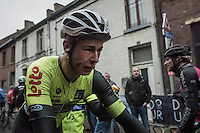an emotional & exhausted Alex Kirsch (LUX/WB Veranclassic - Aqua Protect) rolling in after finishing; crying because of finishing a close 2nd to what could have been his biggest career win...<br /> <br /> GP Le Samyn 2017 (1.1)