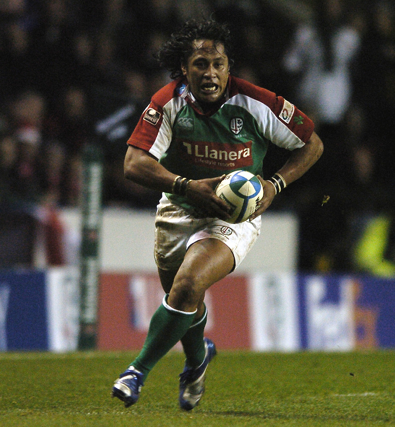 Photo: Jonathan Butler...London Irish v Ulster Rugby. Heineken Cup. 09/12/2006...Seilala Mapusua of London Irish.
