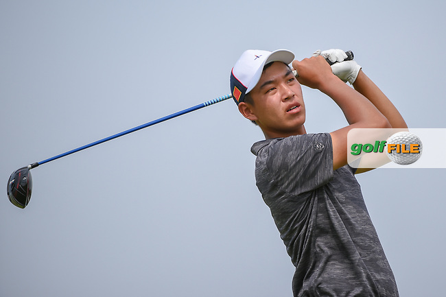 Cheng JIN (CHN) watches his tee shot on 6 during Rd 3 of the Asia-Pacific Amateur Championship, Sentosa Golf Club, Singapore. 10/6/2018.<br /> Picture: Golffile | Ken Murray<br /> <br /> <br /> All photo usage must carry mandatory copyright credit (© Golffile | Ken Murray)