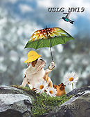 PAUL,REALISTIC ANIMALS, REALISTISCHE TIERE, ANIMALES REALISTICOS, paintings+++++NW_Umbrella-Dog-G,USLGNW19,#a#, EVERYDAY ,funny photos