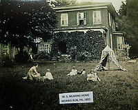 A historic photo of W. Scott Nearing's house in Morris Run 1892.