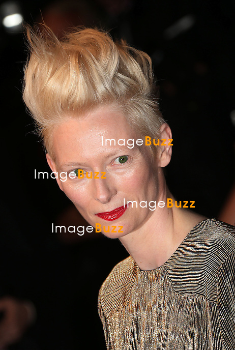 CPE/Actress Tilda Swinton attends the 'Only Lovers Left Alive' premiere during The 66th Annual Cannes Film Festival at the Palais des Festivals on May 25, 2013 in Cannes, France.