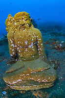 artificail reef, statue, sculpture, Coral Garden, Tulamben, Bali, Indonesia, Pacific Ocean