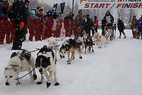 Garry McKeller of Willow leaves the start line of the 2009 Junior Iditarod on Knik Lake on Saturday Februrary 28, 2009.