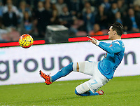 Jose Callejon  during the  italian serie a soccer match,between SSC Napoli and Udinese      at  the San  Paolo   stadium in Naples  Italy , November 08, 2015
