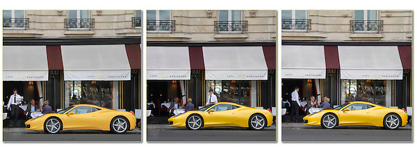 France, Paris.  Ferrari Envy.<br />
