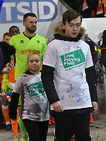 The Level Playing Field children walk out with the team<br /> <br /> Photographer Dave Howarth/CameraSport<br /> <br /> The EFL Sky Bet League One - Blackpool v Doncaster Rovers - Tuesday 12th March 2019 - Bloomfield Road - Blackpool<br /> <br /> World Copyright © 2019 CameraSport. All rights reserved. 43 Linden Ave. Countesthorpe. Leicester. England. LE8 5PG - Tel: +44 (0) 116 277 4147 - admin@camerasport.com - www.camerasport.com