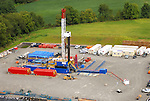Gas drilling operation and new gas lines north of  Montoursville, PA.