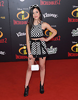 05 June 2018 - Hollywood, California - Jenna Ortega. Disney Pixar's &quot;Incredibles 2&quot; Los Angeles Premiere held at El Capitan Theatre. <br /> CAP/ADM/BT<br /> &copy;BT/ADM/Capital Pictures