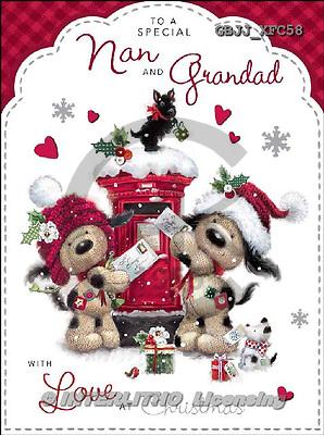 Jonny, CHRISTMAS ANIMALS, paintings+++++,GBJJXFC58,#xa#