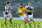 Bryan Sheehan South Kerry in action against Daragh Doherty and Padraig O'Connor Legion at the Kerry County Senior Football Final at Fitzgerald Stadium on Sunday.