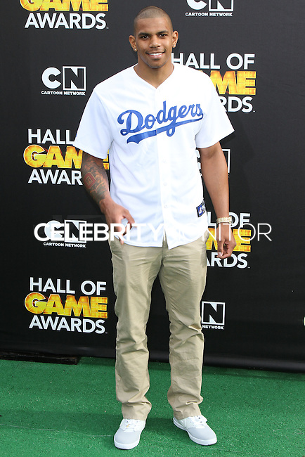 SANTA MONICA, CA, USA - FEBRUARY 15: Terrelle Pryor at the 4th Annual Cartoon Network Hall Of Game Awards held at Barker Hangar on February 15, 2014 in Santa Monica, California, United States. (Photo by David Acosta/Celebrity Monitor)