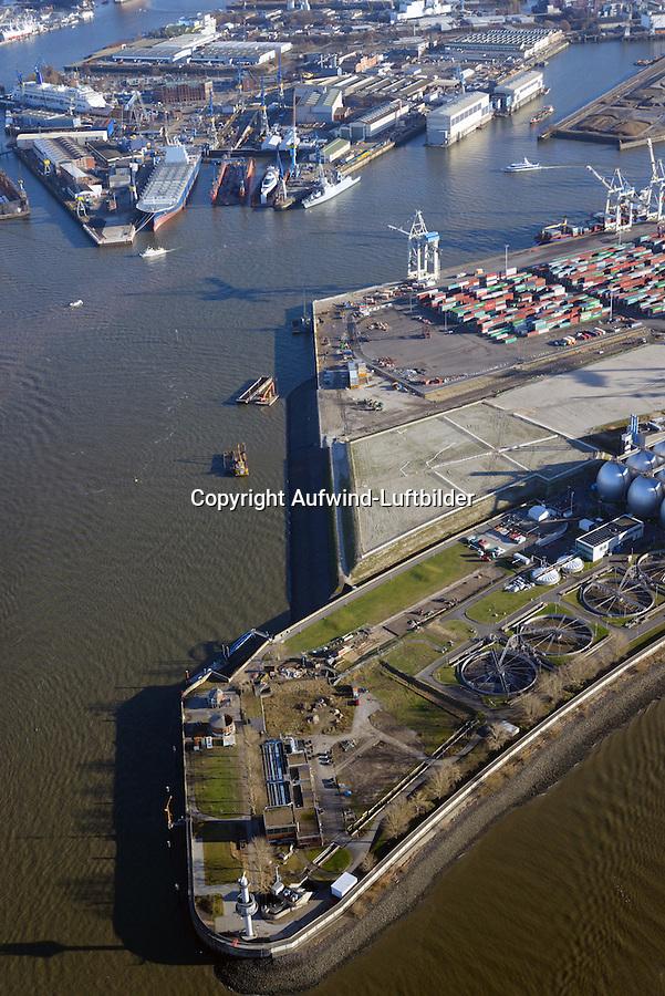 Tollerortspitze: EUROPA, DEUTSCHLAND, HAMBURG 02.12.2016 Tollerortspitze, Hafenausbau,