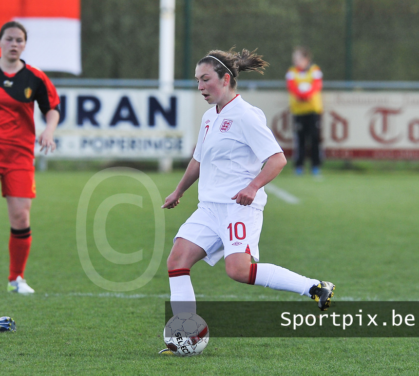 UEFA Women's Under 17 Championship - Second Qualifying round - group 1 : Belgium - England : .Katie Zelem.foto DAVID CATRY / Vrouwenteam.be