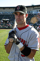 July 18, 2003:  Ryan Knox of the Indianapolis Indians during a game at Frontier Field in Rochester, New York.  Photo by:  Mike Janes/Four Seam Images