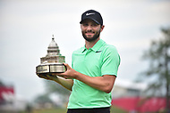 Bethesda, MD - July 2, 2017: Kyle Stanley poses with the Championship trophy following his victory at the Quicken Loans National Tournament at TPC Potomac at Avenel Farm in Bethesda, MD.  (Photo by Phillip Peters/Media Images International)