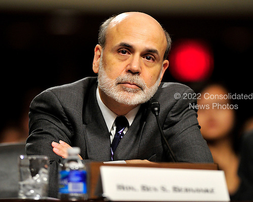 """Ben Bernanke, Chairman, Board of Governors of the Federal Reserve System, testifies on """"The Semiannual Monetary Policy Report to the Congress"""" before the United States Senate Committee on Banking, Housing, and Urban Affairs on Capitol Hill in Washington, Wednesday, July 21, 2010..Credit: Ron Sachs / CNP"""