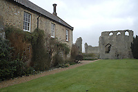 Pic by Si Barber  - 07739 472 922<br /> Creake Abbey in North Norfolk. Image shows - House and abbey.