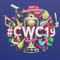 General sign of the CWC 19 world cup around the ground during India vs New Zealand, ICC World Cup Warm-Up Match Cricket at the Kia Oval on 25th May 2019