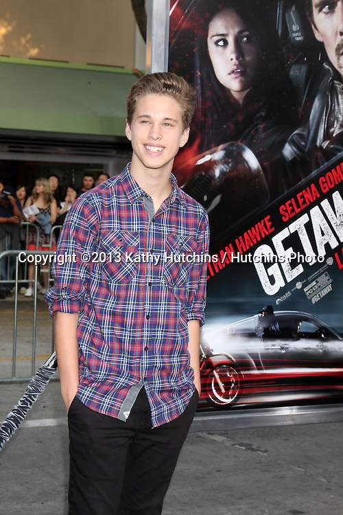 "LOS ANGELES - AUG 26:  Ryan Beatty at the ""Getaway"" Premiere at the Village Theater on August 26, 2013 in Westwood, CA"