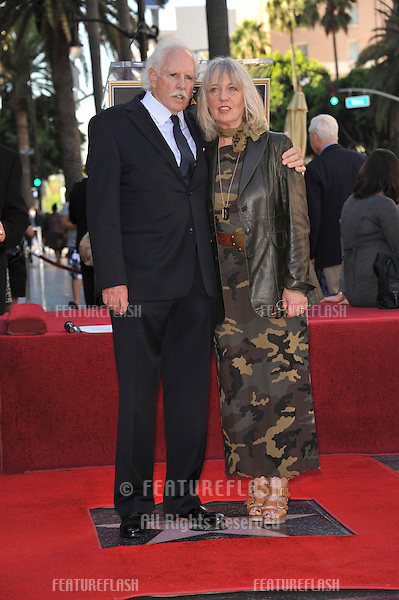 Bruce Dern & wife on Hollywood Boulevard where, together with his ex-wife Diane Ladd and daughter Laura Dern, each were honored with a star on the Hollywood Walk of Fame. This was the first time in history that three stars from the same Hollywood family dynasty of actors was honored at the same time..The Hollywood Walk of Fame is celebrating its 50th anniversary this month..November 1, 2010  Los Angeles, CA.Picture: Paul Smith / Featureflash