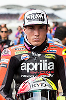 3rd November 2019; Sepang Circuit, Sepang Malaysia; MotoGP Malaysia, Race Day;  The number 42 Team Suzuki ECSTAR rider Alex Rins before the race - Editorial Use