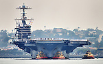 29 April 2013.  USS JOHN C. STENNIS (CVN-74) returning from deployment makes a stop in San Diego to offload helicopter squadrons prior to continuing to Washington state.