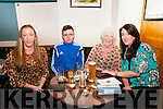 Lenamore NS Quiz: Tessie Whyte, James Whyte, LeslieMulvihill & Linda Enright taking part in the table quiz in aid of Lenamore NS at Brosnan's Bar, Listowel on Friday night last.