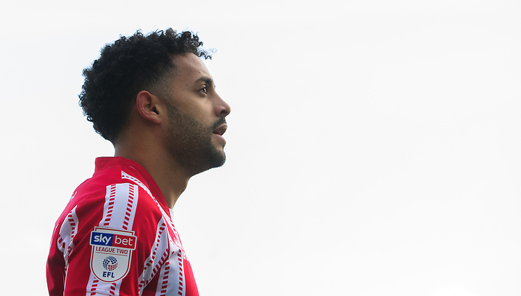 Lincoln City's Bruno Andrade<br /> <br /> Photographer Chris Vaughan/CameraSport<br /> <br /> The EFL Sky Bet League Two - Lincoln City v Northampton Town - Saturday 9th February 2019 - Sincil Bank - Lincoln<br /> <br /> World Copyright &copy; 2019 CameraSport. All rights reserved. 43 Linden Ave. Countesthorpe. Leicester. England. LE8 5PG - Tel: +44 (0) 116 277 4147 - admin@camerasport.com - www.camerasport.com