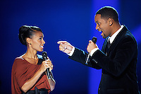 Oslo, 20091211. Nobelkonserten. Will Smith og Jada Pinkett Smith